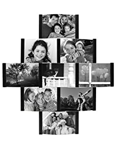 Malden 2056-90 Aero 9-Opening Collage Picture Frame for 4-by-6-Inch Photos (Black)