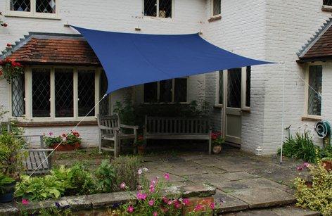 Kookaburra Waterproof Blue Shade Sail 5.4m square
