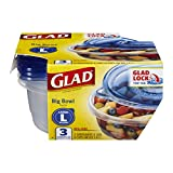 Glad Food Storage Containers, Big Bowl, 48 Ounce, 3 Count (Pack of 6)