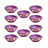Kriti Creations Set Of 10 Traditional Clay Diyas