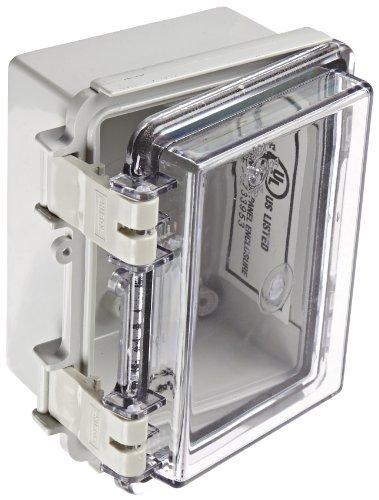 bud-industries-nbf-32402-plastic-outdoor-nema-economy-box-with-clear-door-5-7-64-length-x-3-59-64-wi