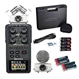 Zoom H6 Handy Recorder with Free 4 Universal Electronics AA Batteries