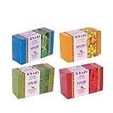 Khadi Mauri Rose Mint Lemon Khas Soap Combo Pack of 4 Herbal Ayurvedic Natural Soaps