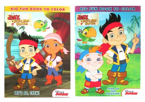 Disney Jake And The Never Land Pirates 96 Pg Coloring & Activity Book (2 Pack) # 861852-set