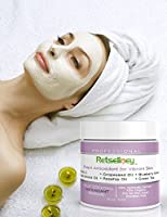 Retseliney Antioxidant Clay Facial Mask, Brightening & Rejuvenating for Dull Skin, Tightens, Pore Reducer, Reduces Wrinkles & Aging Skin with Vitamin C & Glycolic Acid, Organic & Natural Mask for Face