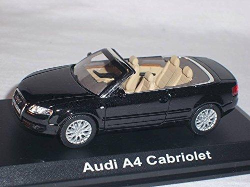 Audi-A4-A-4-2005-Cabrio-Phantom-Schwarz-143-Norev-Modell-Auto-Modellauto-SondeRangebot