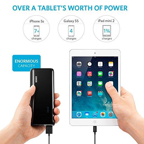 Anker Astro E5 第2世代 16000mAh モバイルバッテリー 2ポート 急速充電可能 iPhone6/6plus/5s/5c/5/iPod/iPad/iPad Air, Air2/iPad mini, mini2, mini3/Xperia/GALAXY/3DS/PSVita/ウォークマン等対応【PowerIQ搭載】