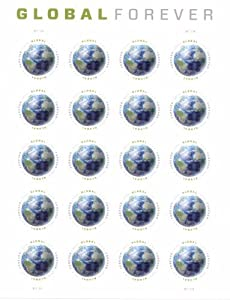 Global Forever international U.S. Postage Stamps Sheet of 20 Stamps x $1.10