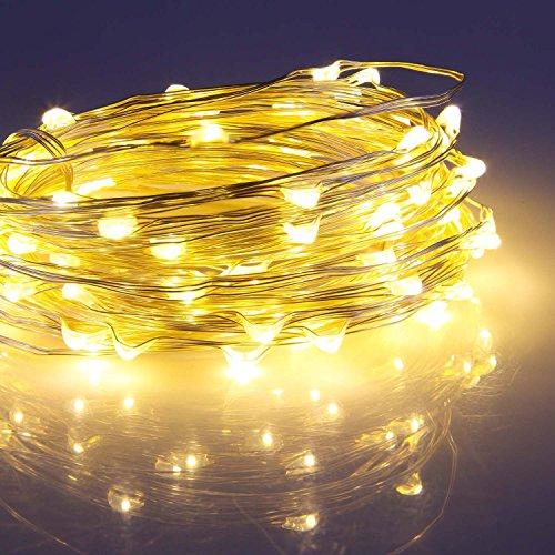 Togather® Giardino Patio 100 USB LED Fata stellata luci della stringa luci impermeabili Micro filo di rame LED per il partito per le vacanze di Natale della decorazione di DIY-caldo colore