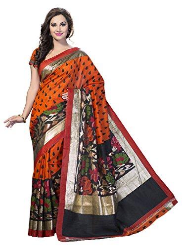 Ishin Womens Silk Saree(BCVIP-12501-A_Multi-Coloured)