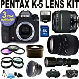 51Qzri KMDL. SL160  Brand New Pentax K 5 Digital Camera w/ 18 55 WR Lens & Sigma 70 300 Lens + 9 Lens Accessory Kit