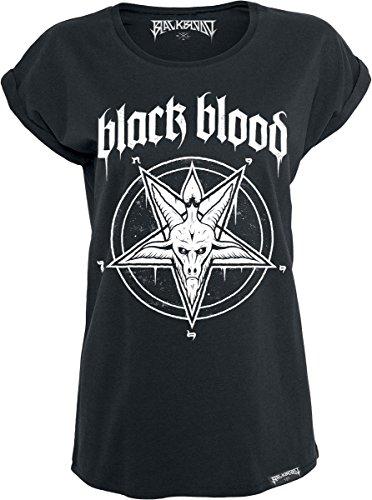 Black Blood Pentagram Maglia donna nero XS