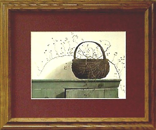 Framed Berry Basket Rose Berries Country Print Picture front-556329