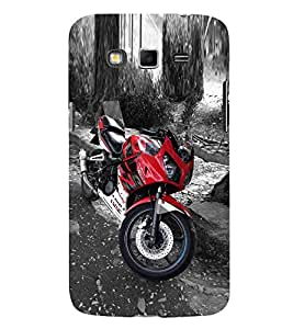 Marvellous Red Bike 3D Hard Polycarbonate Designer Back Case Cover for Samsung Galaxy Grand i9080 :: Samsung Galaxy Grand i9082