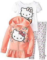 Hello Kitty Baby Girls\' 3 Piece Coral Jacket Set, Multi, 18 Months