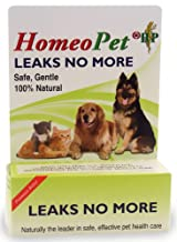 HomeoPet LEAKS NO MORE Homeopathic Incontinence Dog Cat Stop Pet Leakage 15 ml