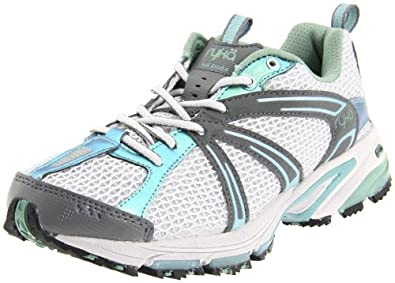 Ryka Women's Trail Exodus,Vapor Grey/Steel Grey/Metallic Basil Green/Reef Blue,7 B US