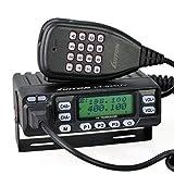 LUITON LT-925UV 25watts Dual Band Mobile Radio Dual Standby with Free Programming Cable VHF UHF FM Transceiver (Black)