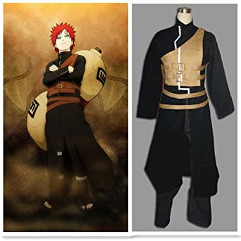 Japanese Anime Naruto Shippuden Gaara outfit Cosplay Costume 4 pieces