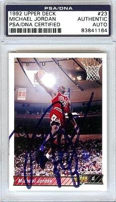 Michael Jordan Autographed Signed 1992 Upper Deck Card #23 Chicago Bulls - PSA/DNA Certified - Basketball Autographed Cards