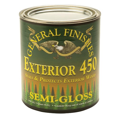 Semi-Gloss General Finishes Exterior 450 Varnish, Quart
