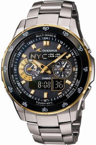 CASIO (カシオ) 腕時計 OCEANUS オシアナス World Time ワールドタイム タフソーラー 電波時計 TOUGH MVT MULTIBAND6 OCW-T400TG-1AJF メンズ