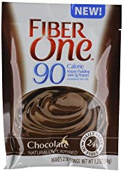 Fiber One 90 Calorie Instant Pudding, Chocolate, 1.2 Ounce (Pack of 16)