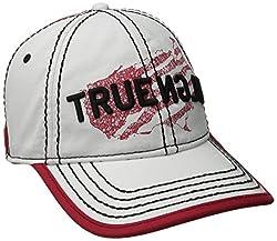True Religion Men's Religion USA Baseball Cap, White, One Size