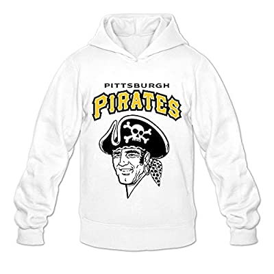 Men's Pittsburgh Pirates MLB Korean Style Hoodies Sweatshirt Size US White