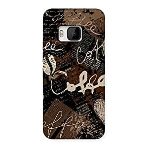 Premium Coffee Coffee Multicolor Back Case Cover for HTC One M9