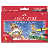 Faber-Castell - Watercolor Crayons - Premium Art Supplies For Kids