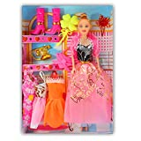 Beautiful kids Toys with Trendy Dresses Like Barbie Doll Set Toy Baby Gift - 49