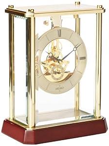 Amazon.com: Seiko Mantel Clock Gold-Tone Metal and Glass