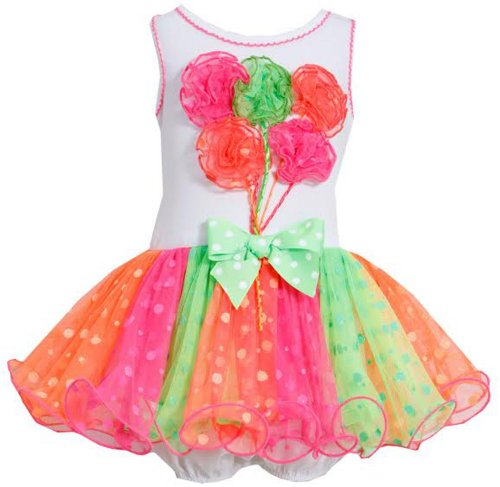 Girl'S Birthday Tutu Ballon Party Dress (18 Months With Bracelet For Mom) front-952000