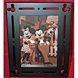 Disney Parks Exclusive Mickey Mouse Icon Black Wood Frame 5x7