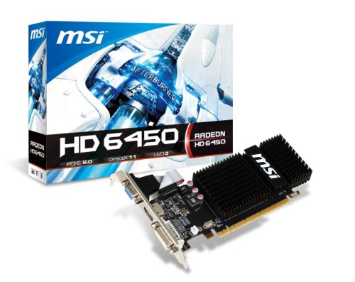 MSI AMD Radeon HD 6450 2GB DDR3 VGA/DVI/HDMI Low Profile PCI-Express Video Card R6450-2GD3H/LP (6450 Low Profile compare prices)