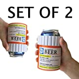 The Prescription Kool Koozie (Set of 2) -Insulated Foam Can Holder