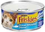 51R%2B6bsmXrL. SL160  Friskies Cat Food Classic Pate, Special Diet Ocean Whitefish Dinner, 5.5 Ounce Cans (Pack of 24)