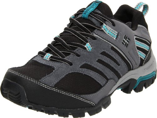 Columbia Women's Shasta Ridge Omni Tech Black, Enamel Blue Hiking Shoe BL3707 6 UK