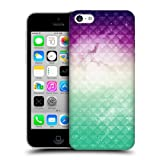 Head Case Printed Purple Sky Green Mist Studded Ombre Case For Apple iPhone 5c