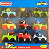 Fisher-Price Little People Wheelies Vehicle 9-Pack