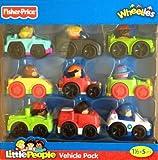 Fisher-Price Little People Wheelies Vehicle 9-Pack