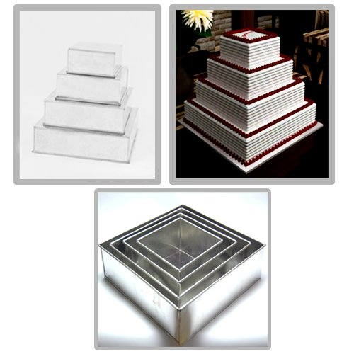 multilayer wedding birthday cake baking pan set of 4 cake tins 4 new