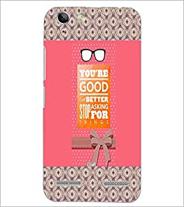 PrintDhaba Quote D-3262 Back Case Cover for LENOVO LEMON 3 (Multi-Coloured)