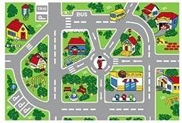 Street Map Children Area Rug 39\