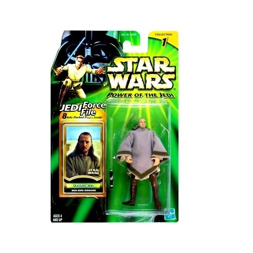 Star Wars: Power of the Jedi Qui-Gon Jinn (Mos Espa Disguise) Action Figure - 1