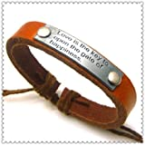 Stone River Jewellery Love & Happiness Brown Leather Bracelet