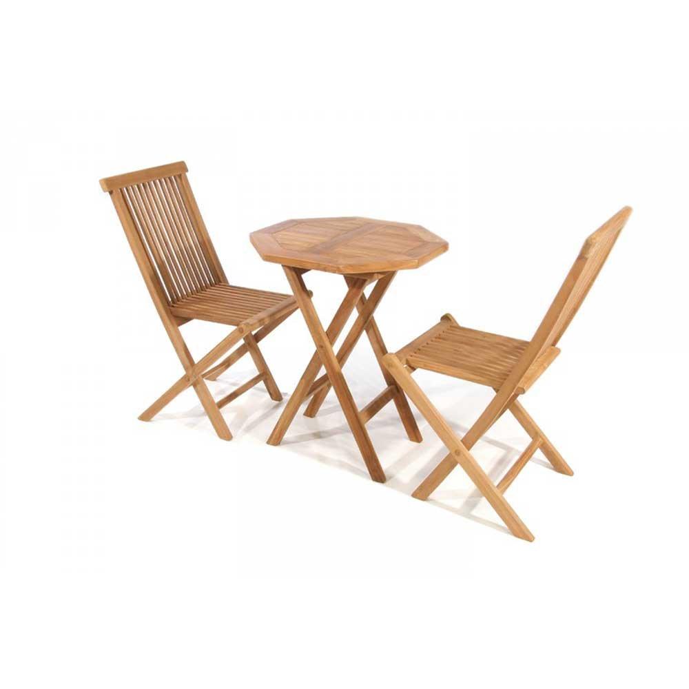 Teak Sitzgruppe aus Massivholz 60 cm breit (3-teilig) Pharao24 günstig bestellen