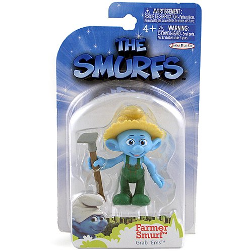 The Smurfs Movie Grab Ems Mini Figure Farmer Smurf - 1