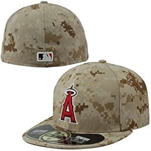 Los Angeles Angels of Anaheim New Era MLB 2013 Stars and Stripes Fitted Hat (Brown) by New Era